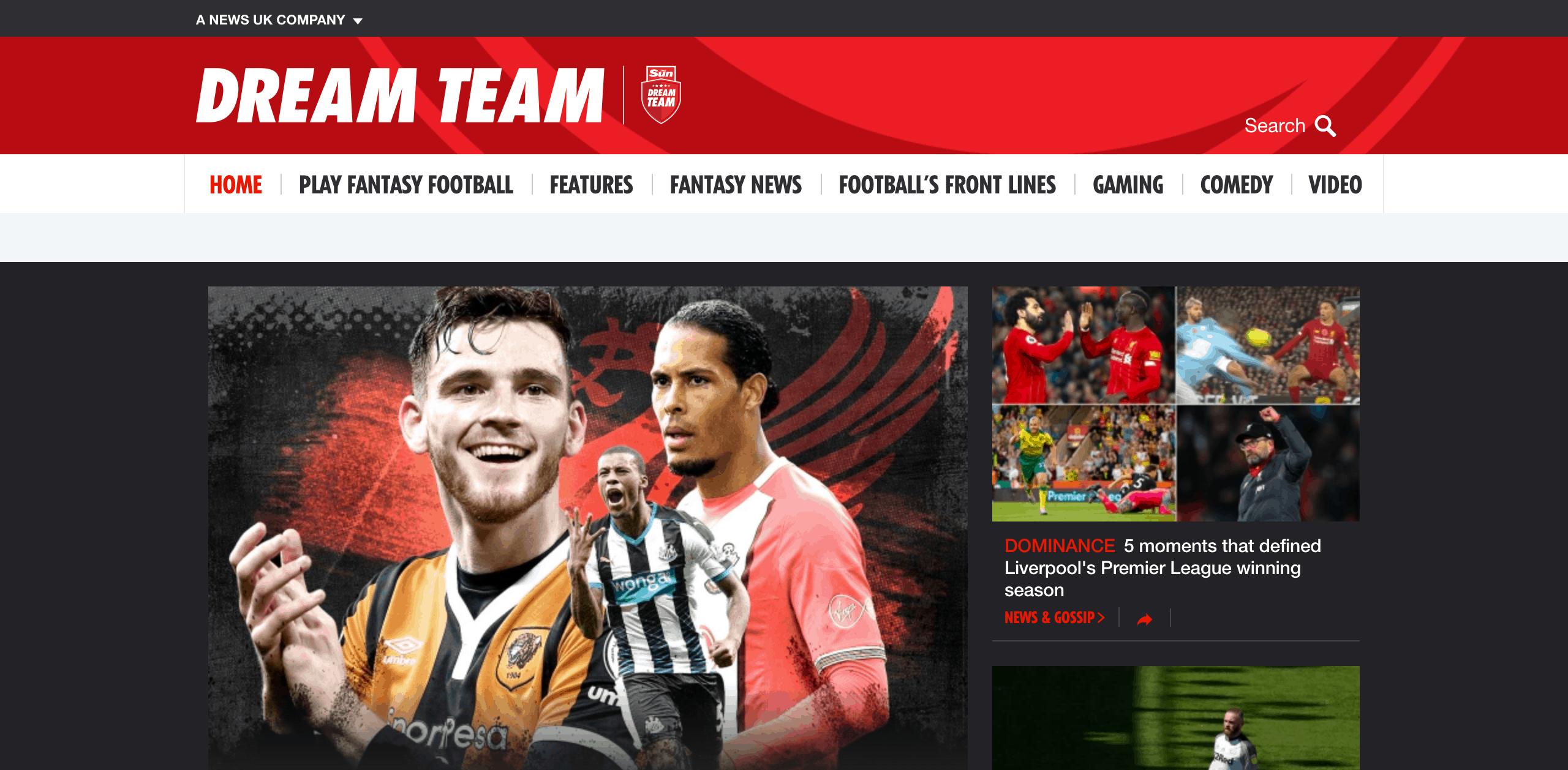 Dream team FC: 2015 ~ WordPress development expert